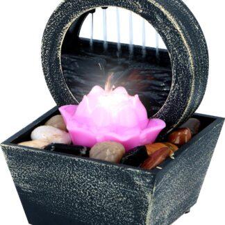 Tafelfontein Lotusbloem - Indoor Waterornament met LED-licht