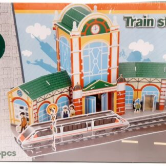 3D bouwpakket treinstation
