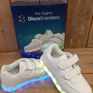 Disco sneakers met klittenband.
