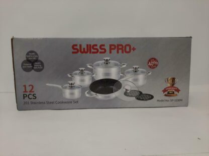 Swiss Pro Pannenset - 12 delig - RVS